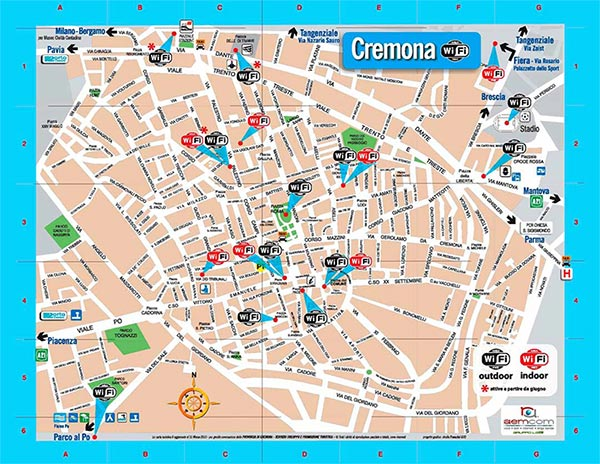 Mappa WiFi Gratis a Cremona