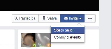 Invita tutti gli amici ad un evento su Facebook