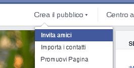 Invitare gli amici sulle Pagine Facebook