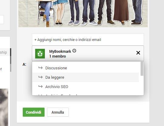 Salvare contenuti nella community Google plus